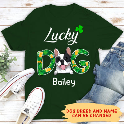 Lucky Dog - Personalized Custom Unisex T-shirt