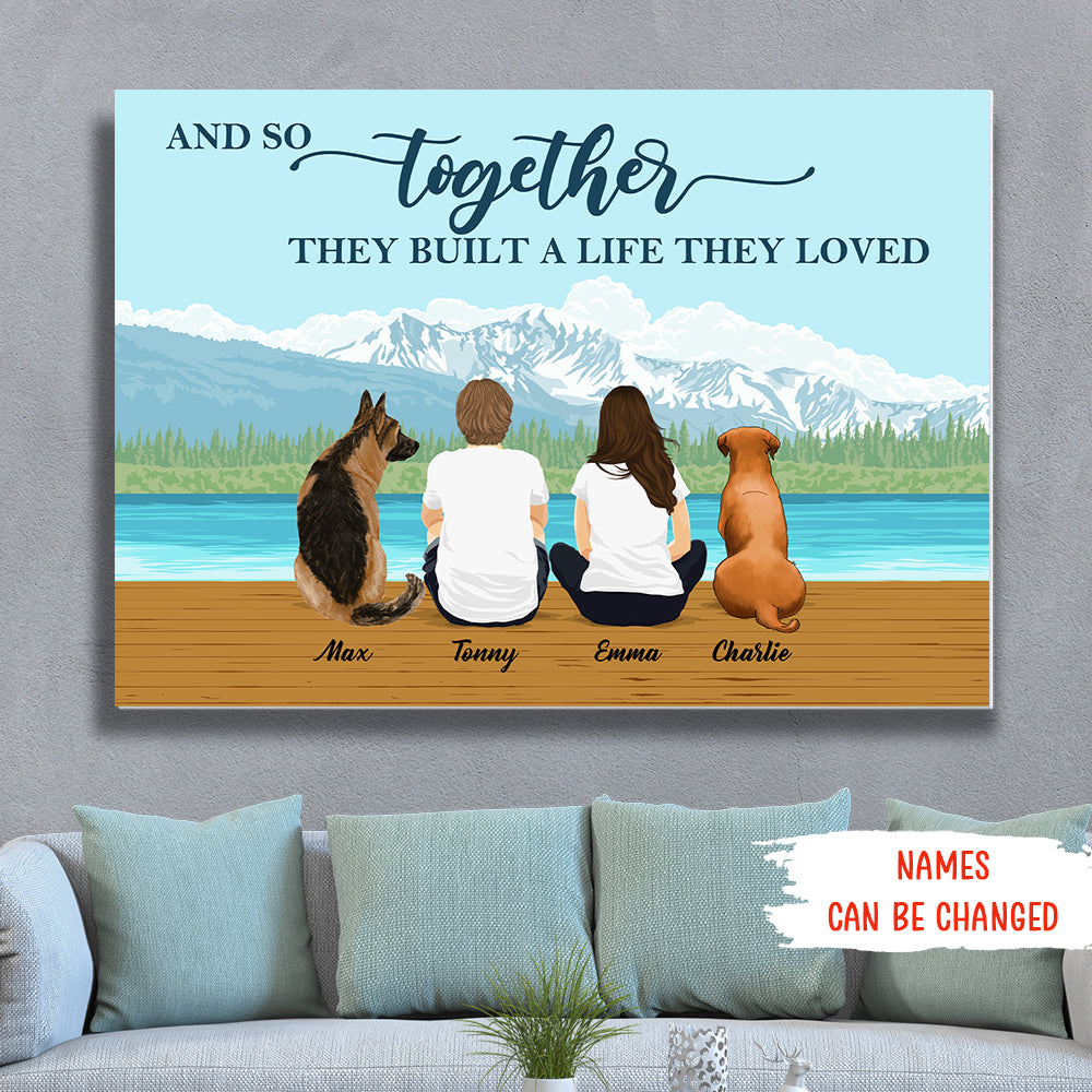 A Life They Loved - Personalized Custom Canvas