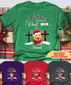 Christ And Dog - Personalized Custom Unisex T-shirt - Christmas Gift
