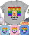 Proud Mom, Proud Dad - Personalized Custom Unisex T-shirt