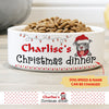 Christmas Dinner - Personalized Custom Pet Bowl