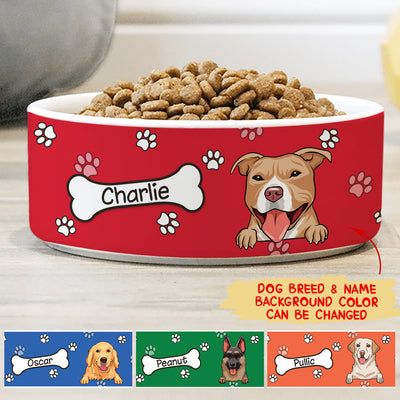 Colorful Bowl - Personalized Custom Ceramic Pet Bowl