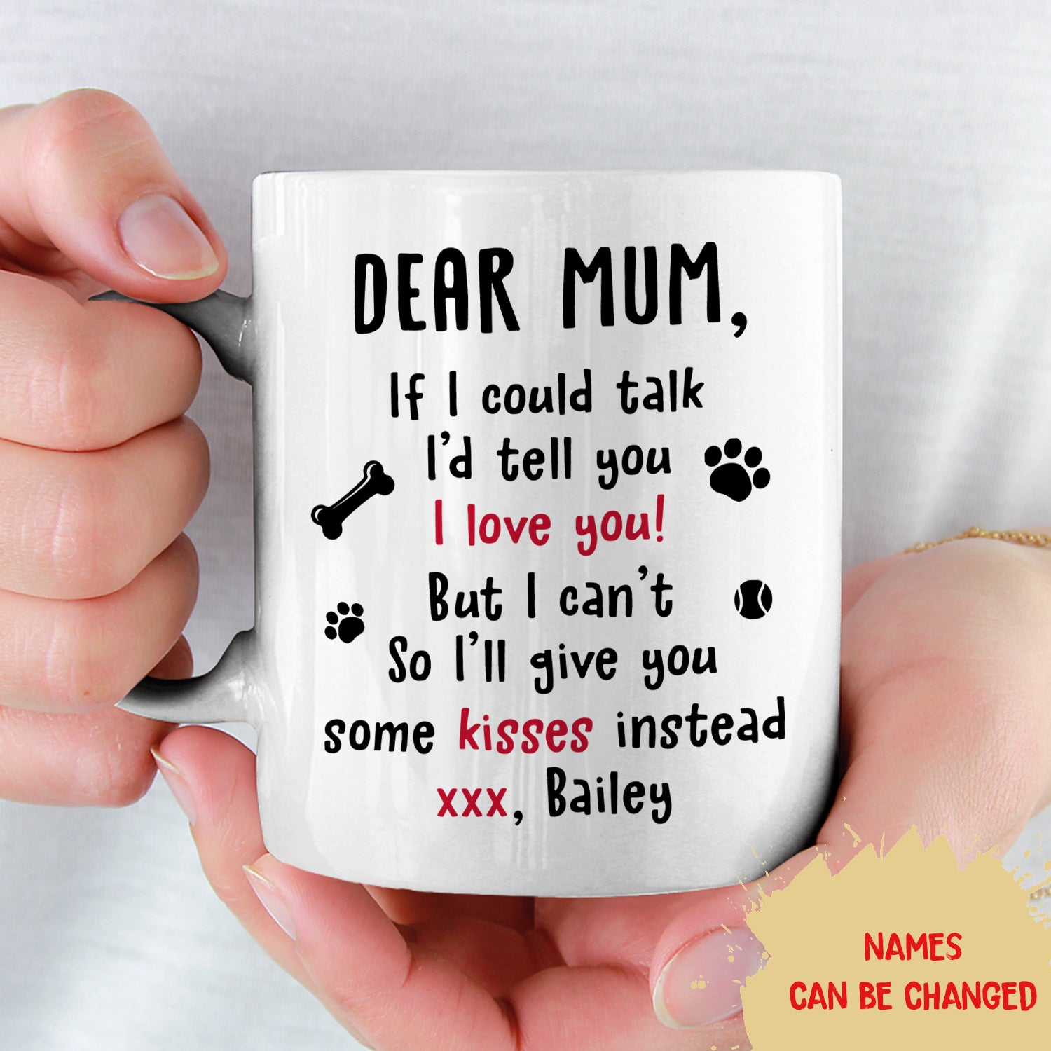 If I Could Talk - Personalized Custom Coffee Mug - Mother's Day Gifts