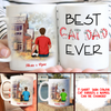 Best Cat Dad Ever – Personalized Custom Coffee Mug