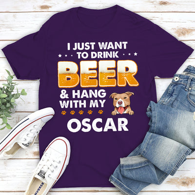 Beer and Dog - Personalized Custom Premium T-Shirt
