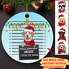 Dog Offence - Personalized Circle Ceramic Ornament