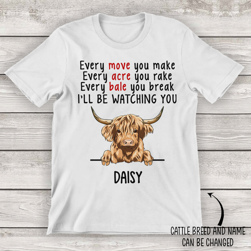 Cattle Watching You - Personalized Custom Unisex T-shirt