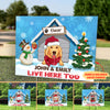 Live Here Too - Personalized Custom Yard Sign - Christmas Yard Sign