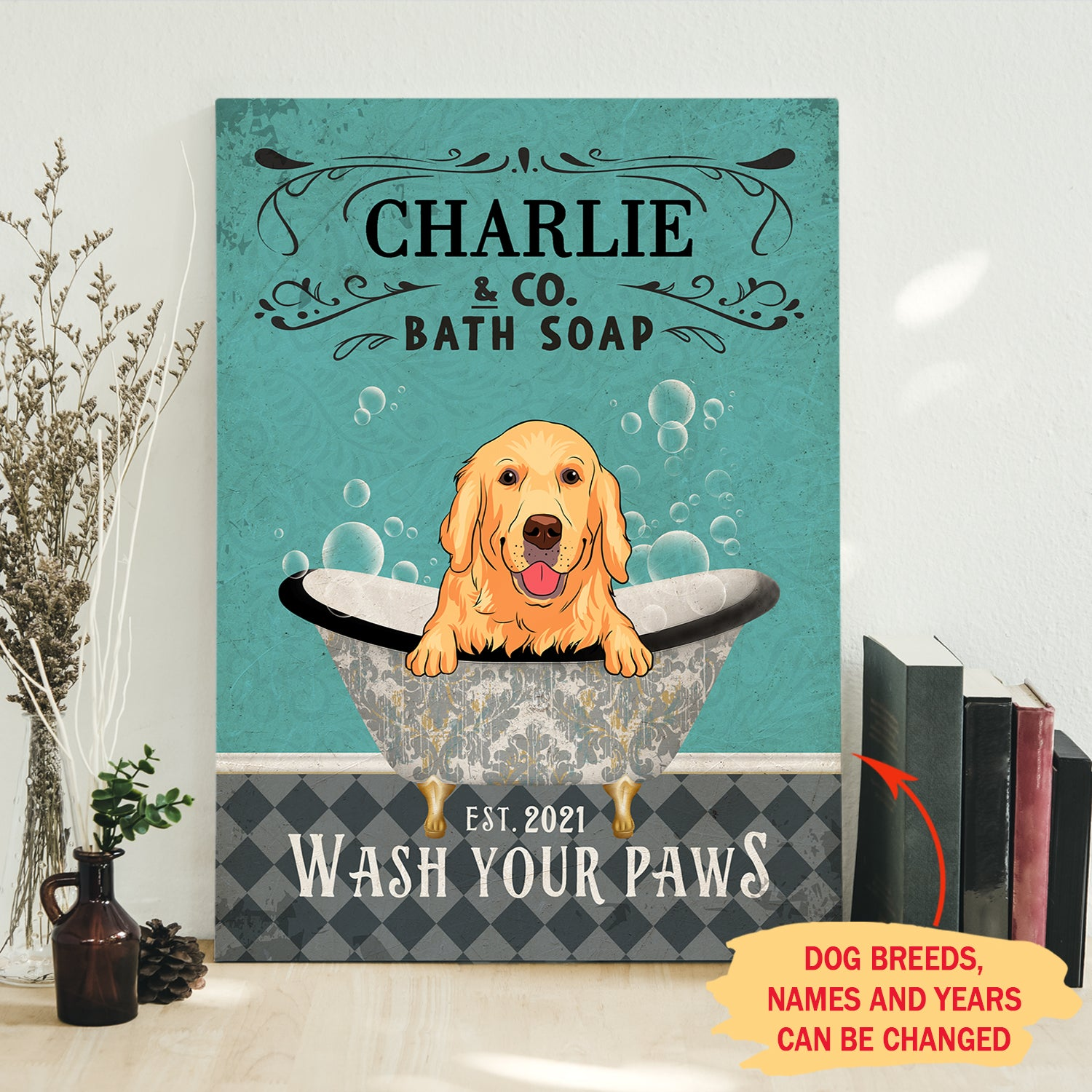 Bath Soap Company - Personalized Custom Canvas - Gifts For Dog Lovers