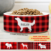 Dog Bowl - Personalized Custom Ceramic Pet Bowl