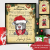 Christmas Sheet Music - Personalized Custom Canvas - Christmas Decorations