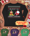 We Woof You A Merry Christmas - Personalized Custom Unisex Long Sleeve