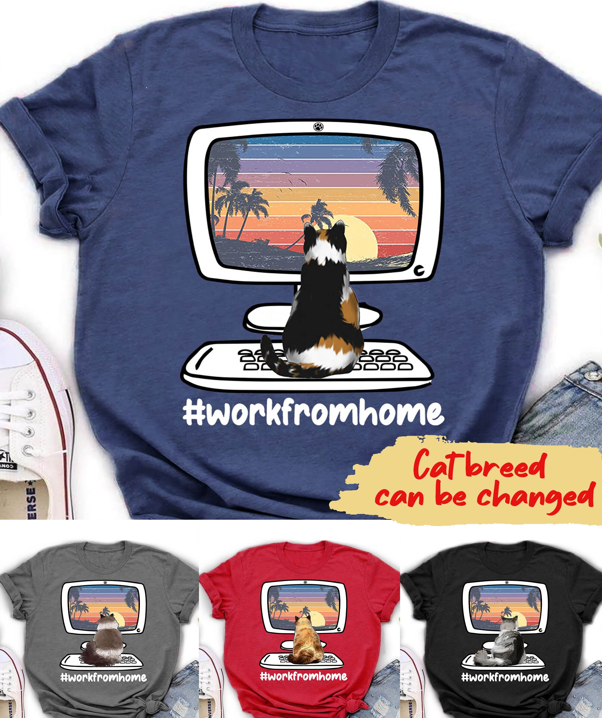 Work from home - Personalized Custom T-shirt