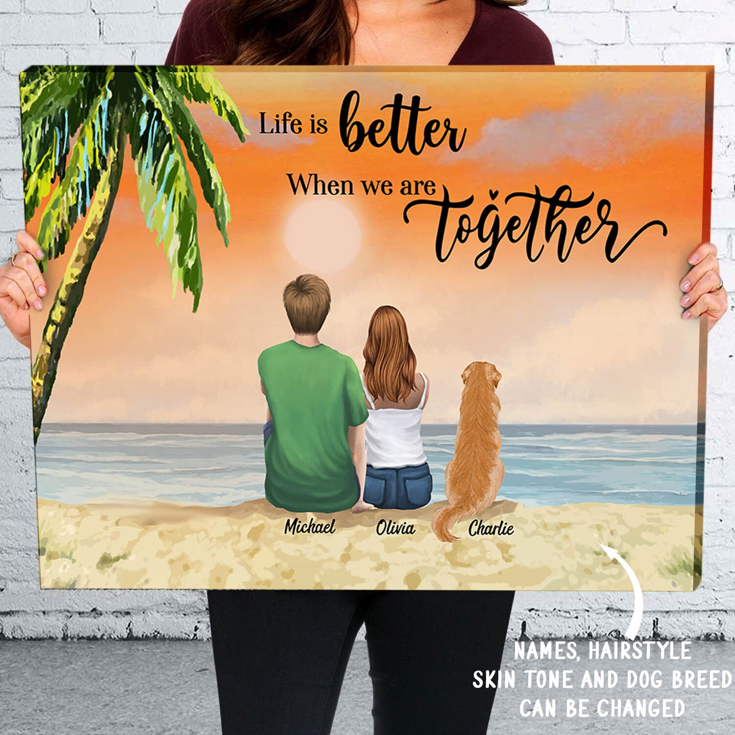 Life Is Better When We Are Together - Personalized Custom Matte Canvas