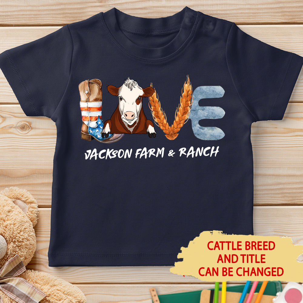 Love Farm - Personalized Custom Youth T-shirt