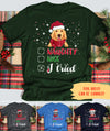 I Tried - Personalized Custom Unisex T-shirt - Christmas Gifts For Dog Lovers