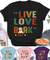 Live Love Bark - Personalized Custom Unisex T-shirt