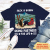 Skiing Partners - Personalized Custom Unisex T-shirt