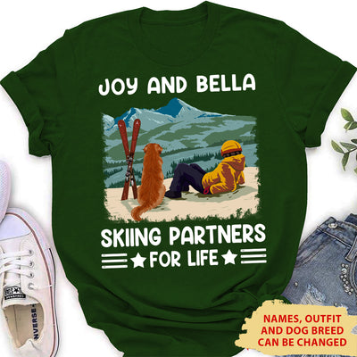 Skiing Partners - Personalized Custom Women T-shirt