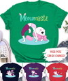 Meowmaste Yoga - Personalized Custom Women T-shirt