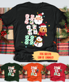 Santa Dog Snowman - Personalized Custom Unisex T-shirt - Christmas Shirts