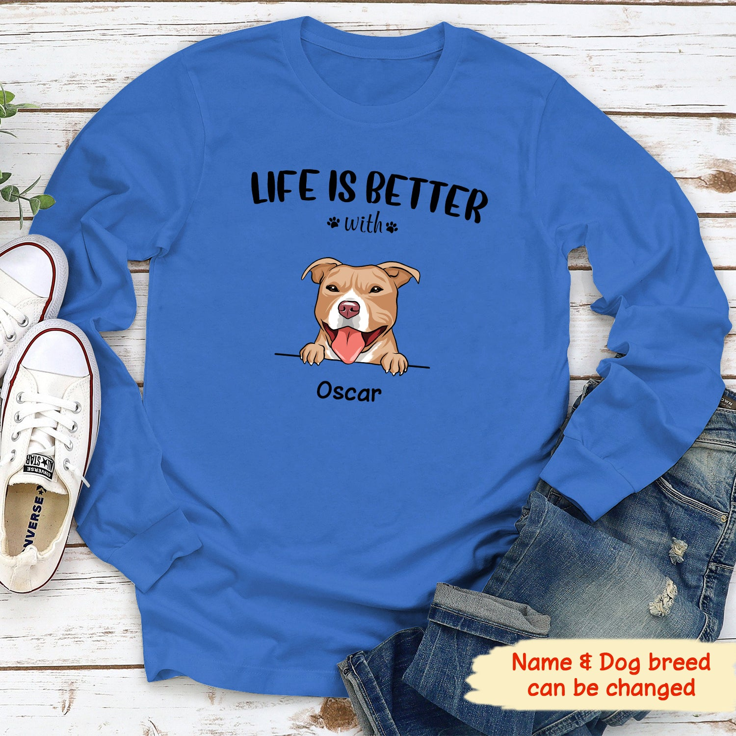 Life is better - Personalized custom classic long sleeve