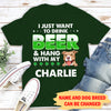 Beer And Dog 2 - Personalized Custom Premium T-Shirt