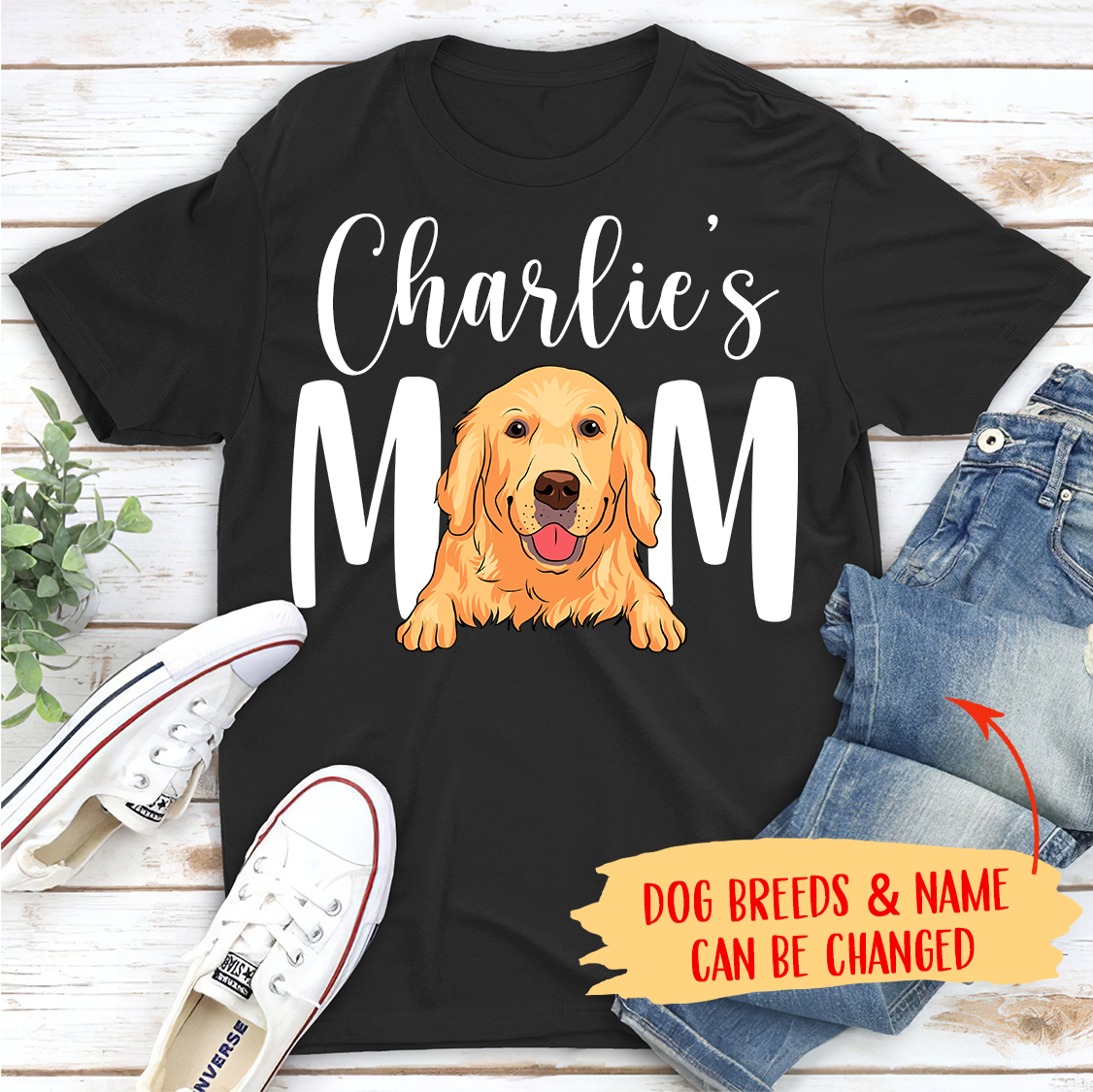 Dog Mom/Dad - Personalized Custom Unisex T-shirt - Gifts For Dog Lovers