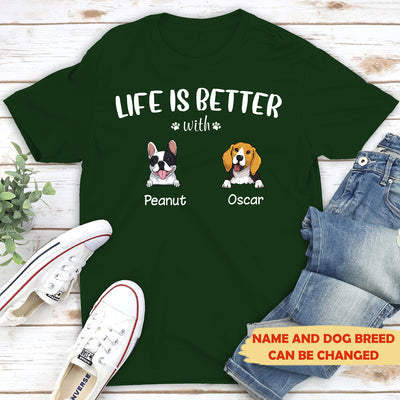 Life is better (White text) - Personalized custom premium T-shirt