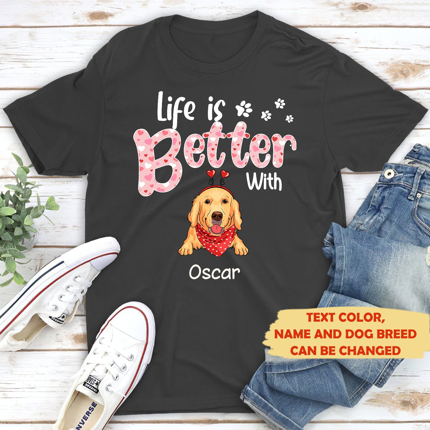 Life is better 2 - Personalized custom T-shirt