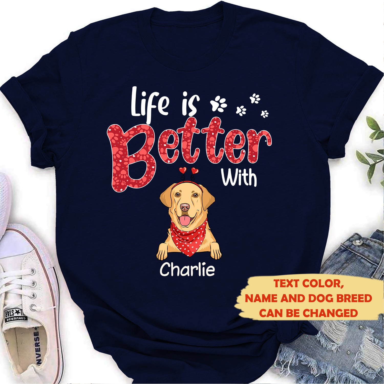 Life is better 2 - Personalized custom women's T-shirt