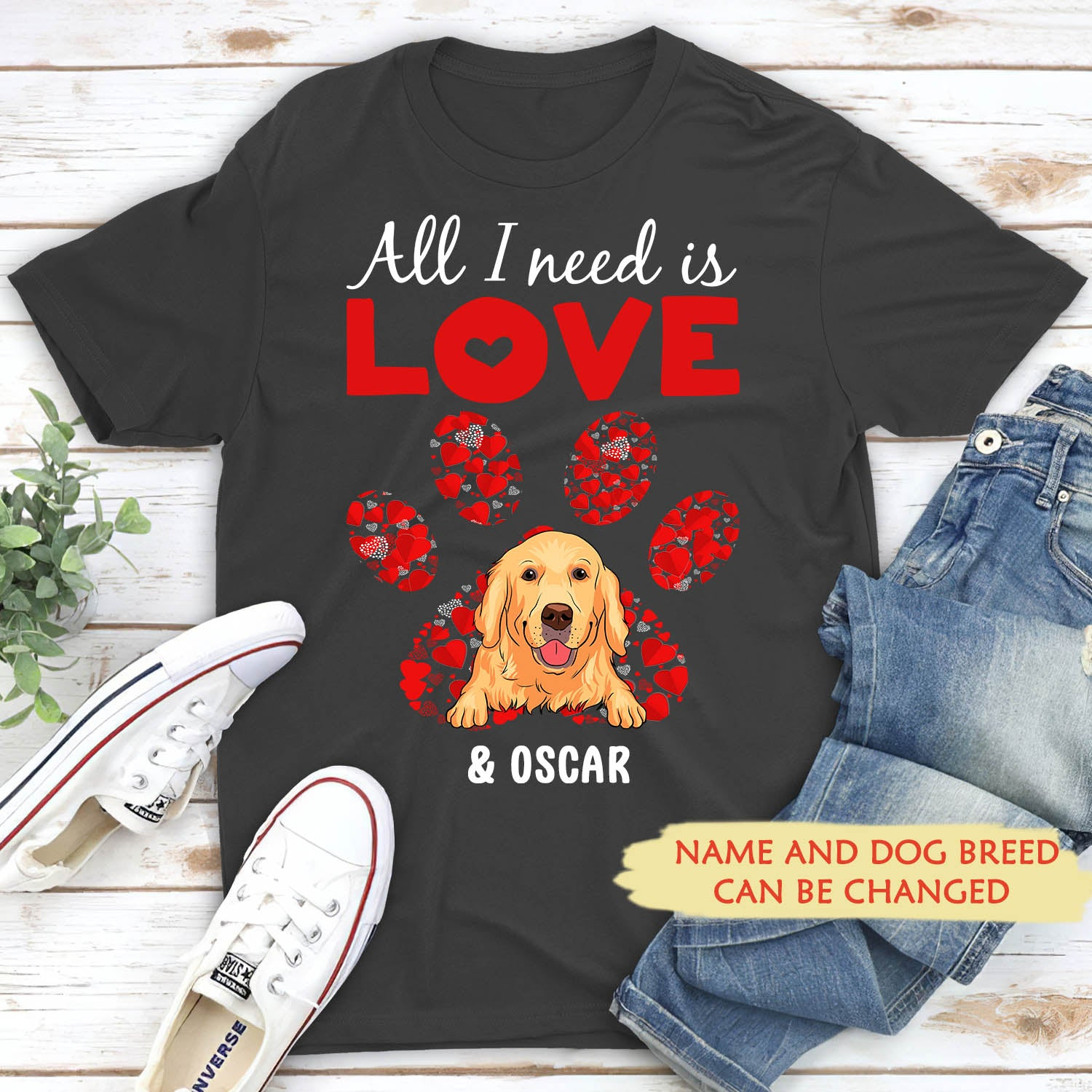 All I need - Personalized custom premium T-shirt