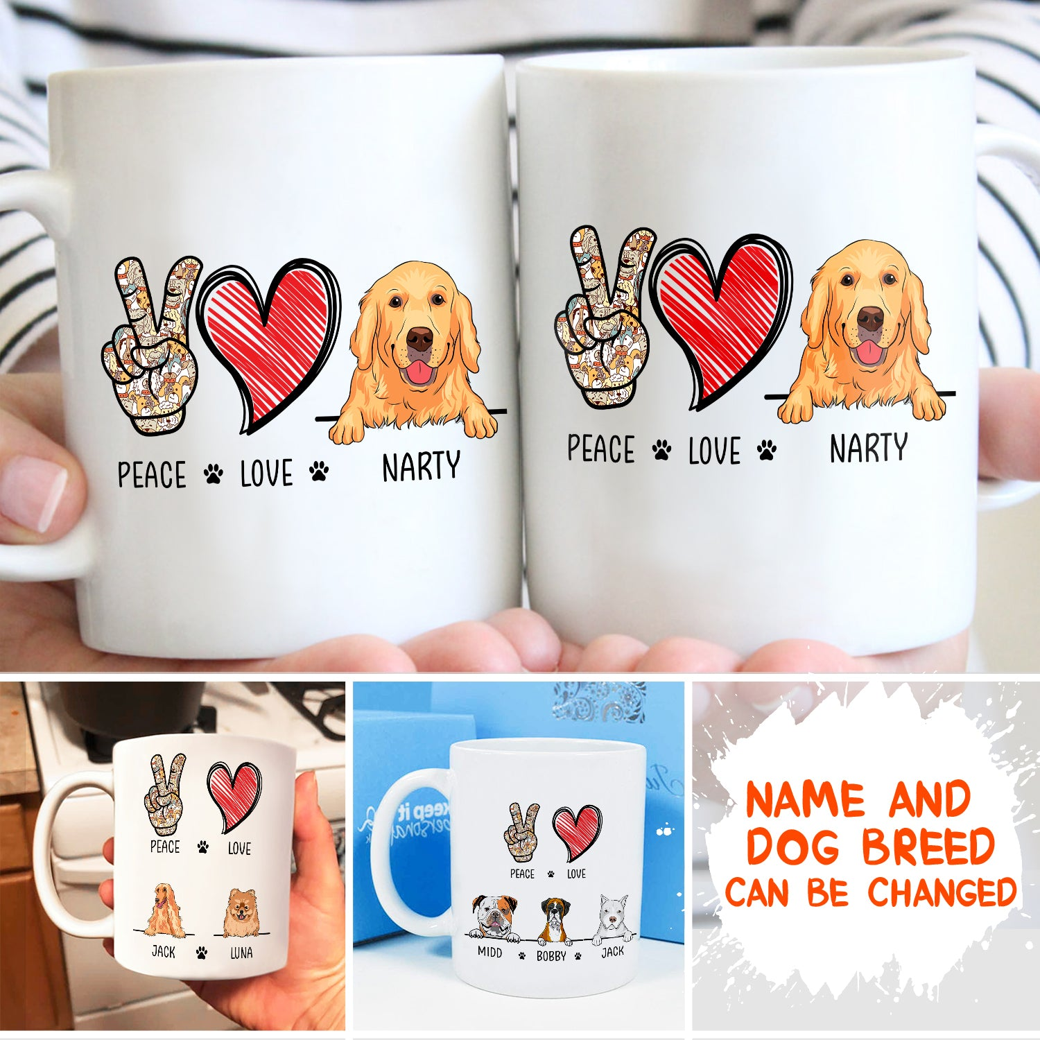 Mug - Peace Love Dog