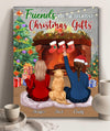 Friends Are The Greatest Christmas Gifts - Personalized Custom Canvas