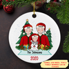 Family Christmas - Personalized Ceramic Christmas Ornaments
