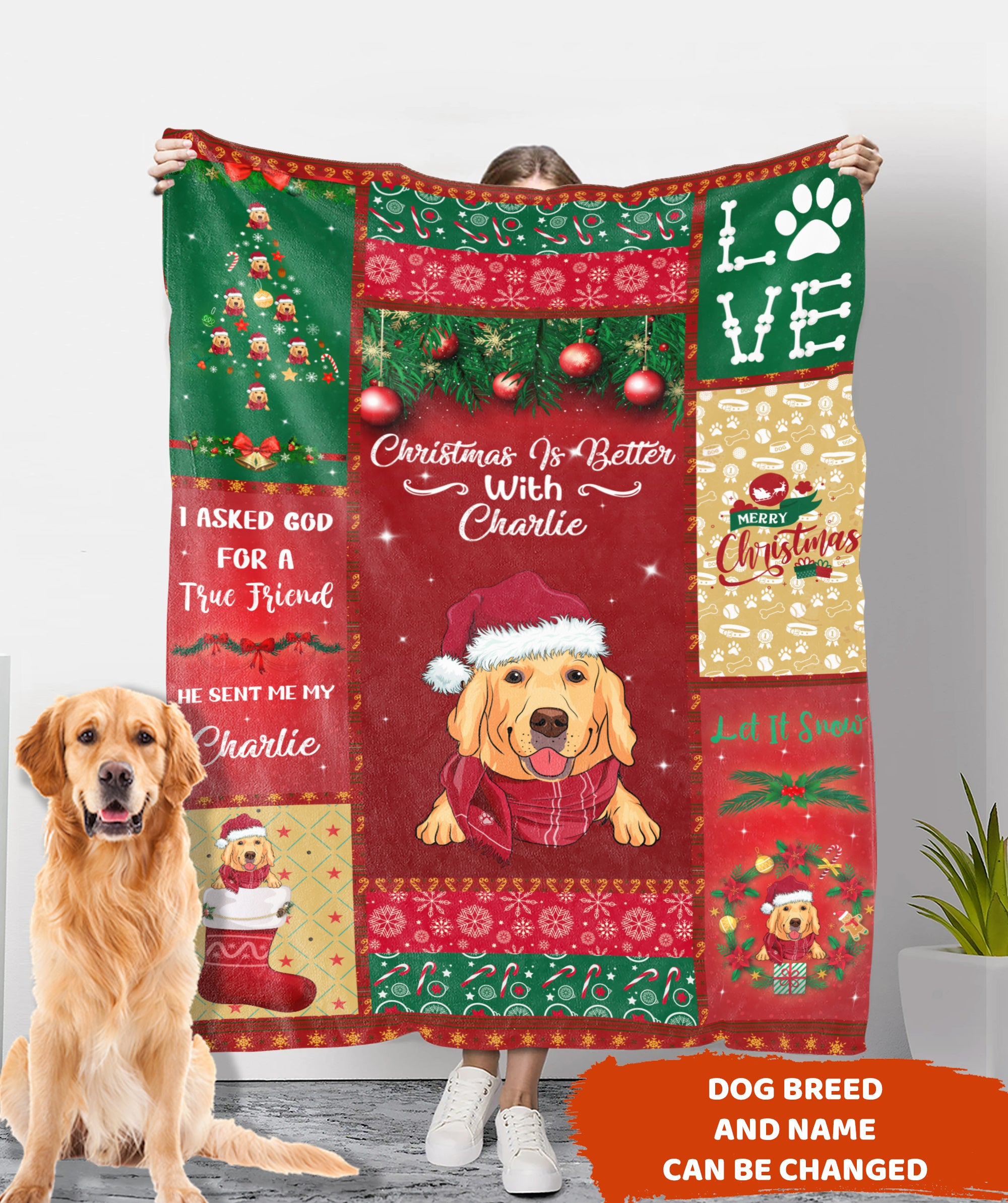 Christmas Is Better With - Personalized Custom Fleece Blanket - Christmas Gifts