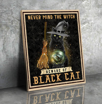 Beware Of Black Cat - Matte Canvas