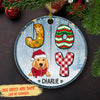 Joy Christmas - Personalized Ceramic Christmas Ornaments