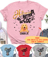 Halloween is better with dogs - Personalized custom T-shirt