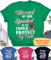 Blessed By God Spoiled By Dog - Personalized Custom Women's T-shirt