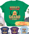 World's Greatest Grandpaw - Personalized Custom Unisex T-shirt