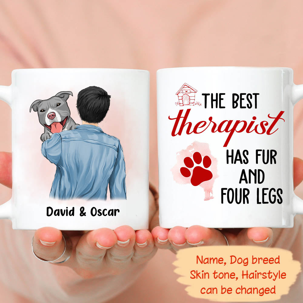 The best therapist - Personalized Custom Coffee Mug