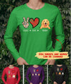 Peace Love Dog - Personalized Custom Long Sleeve