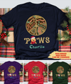 Peace Love Paws - Personalized Custom Unisex T-shirt
