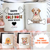 Cold Nose Warm Wishes - Personalized Custom Mug - Gifts For Dog Lovers