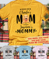 Dog Mom Baby Mommy - Personalized Custom Unisex T-shirt