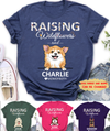Wildflowers And Dog - Personalized Custom T-Shirt