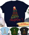 Joy Love Peace Believe Christmas - Personalized Custom Unisex T-shirt