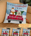 It's The Most Wonderful Time Of The Year - Winter Ver. - Personalized Custom Pillow - Christmas Gifts