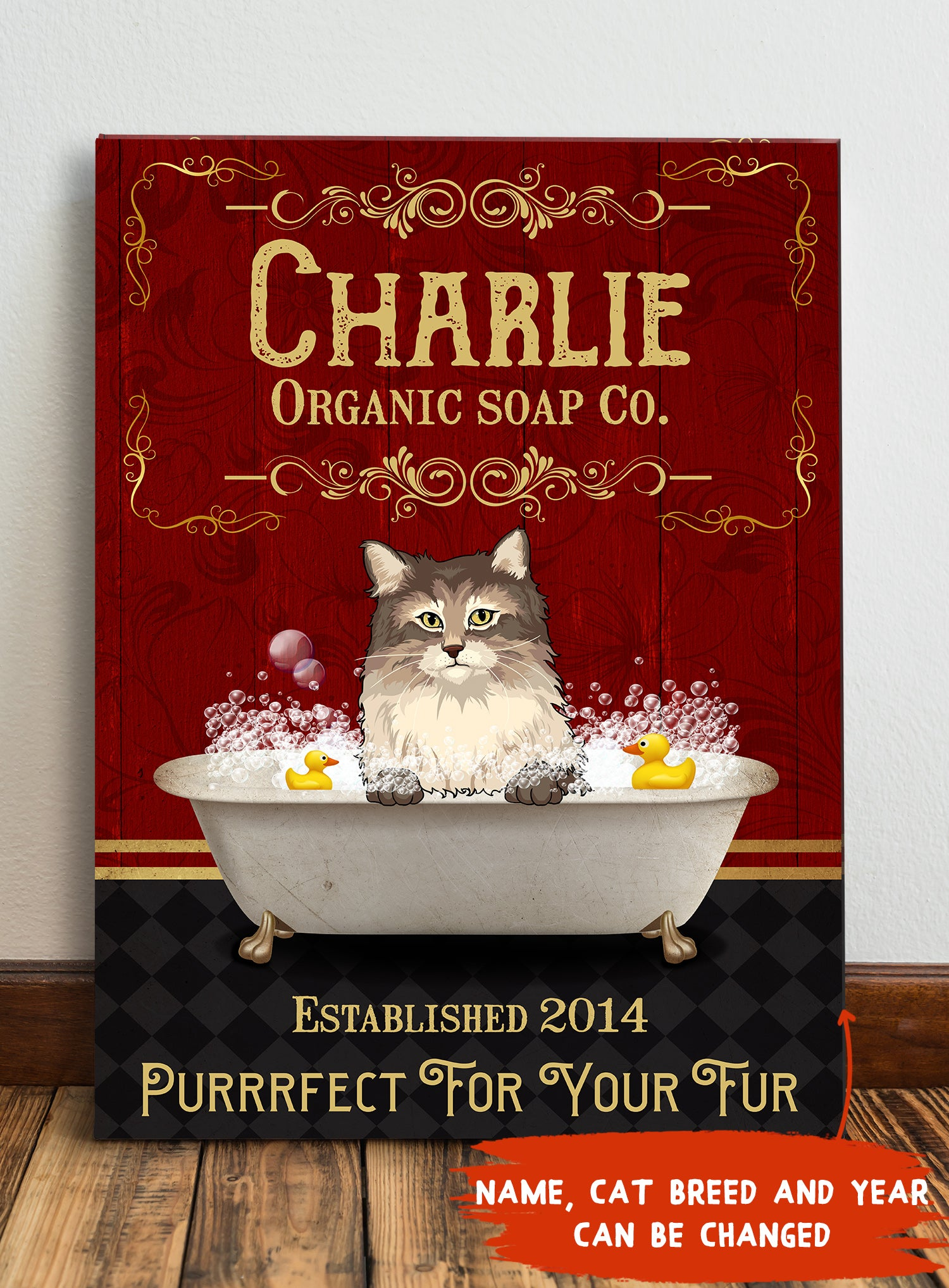 Cat organic soap - Personalized Custom Canvas